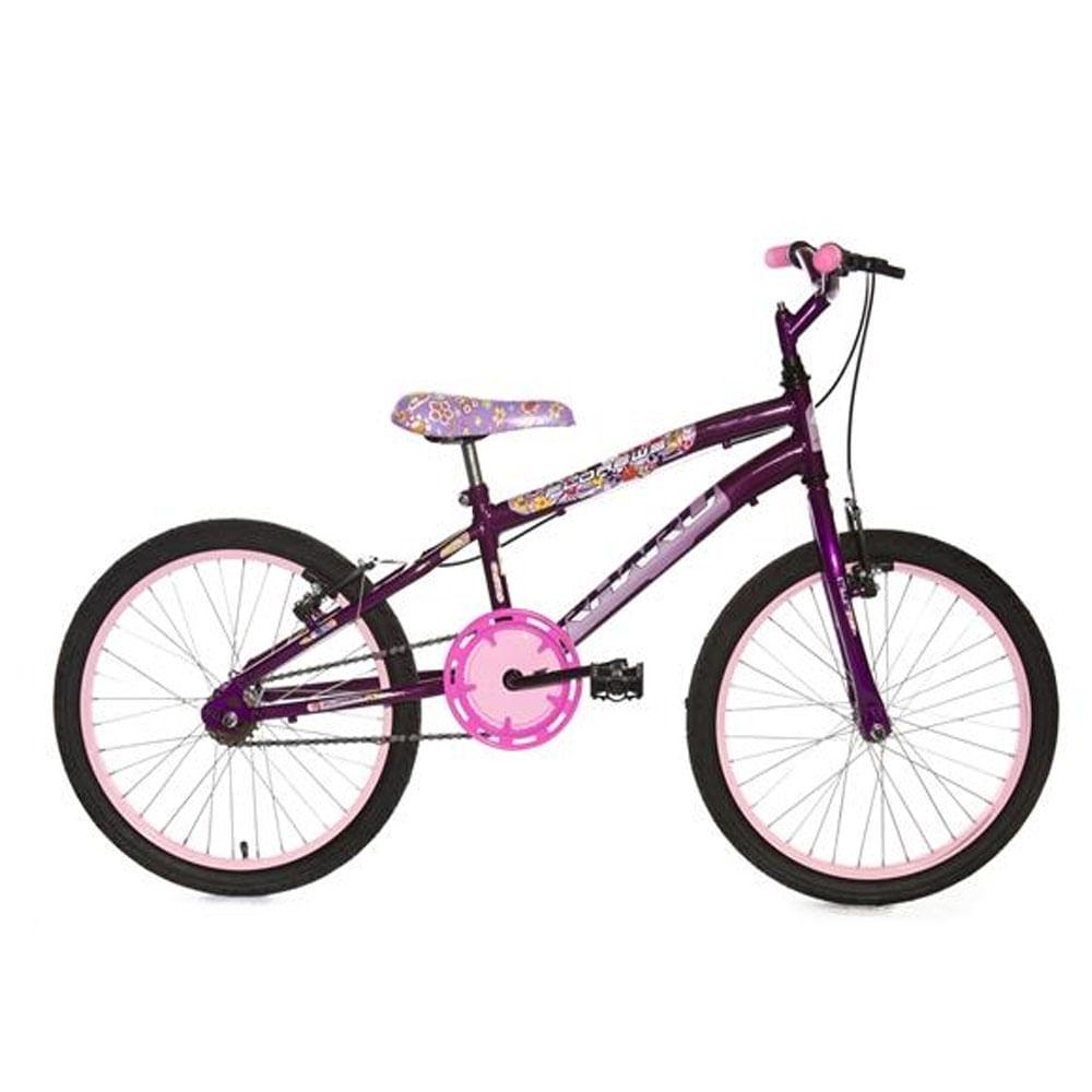 556292620 Bicicleta Infantil Rharu Flower Aro 20- Ciclo Assunção - Ciclo Assuncao