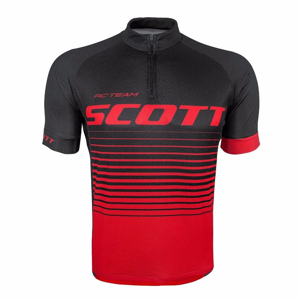Camisa Ciclismo Scott RC Team 20 Preto  Vermelho- Ciclo Assunção ... d9755eacb