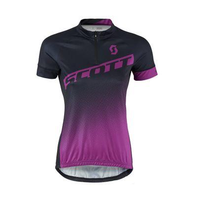 Camisa Ciclismo Feminina Scott Endurance 40 Preto/Roxo