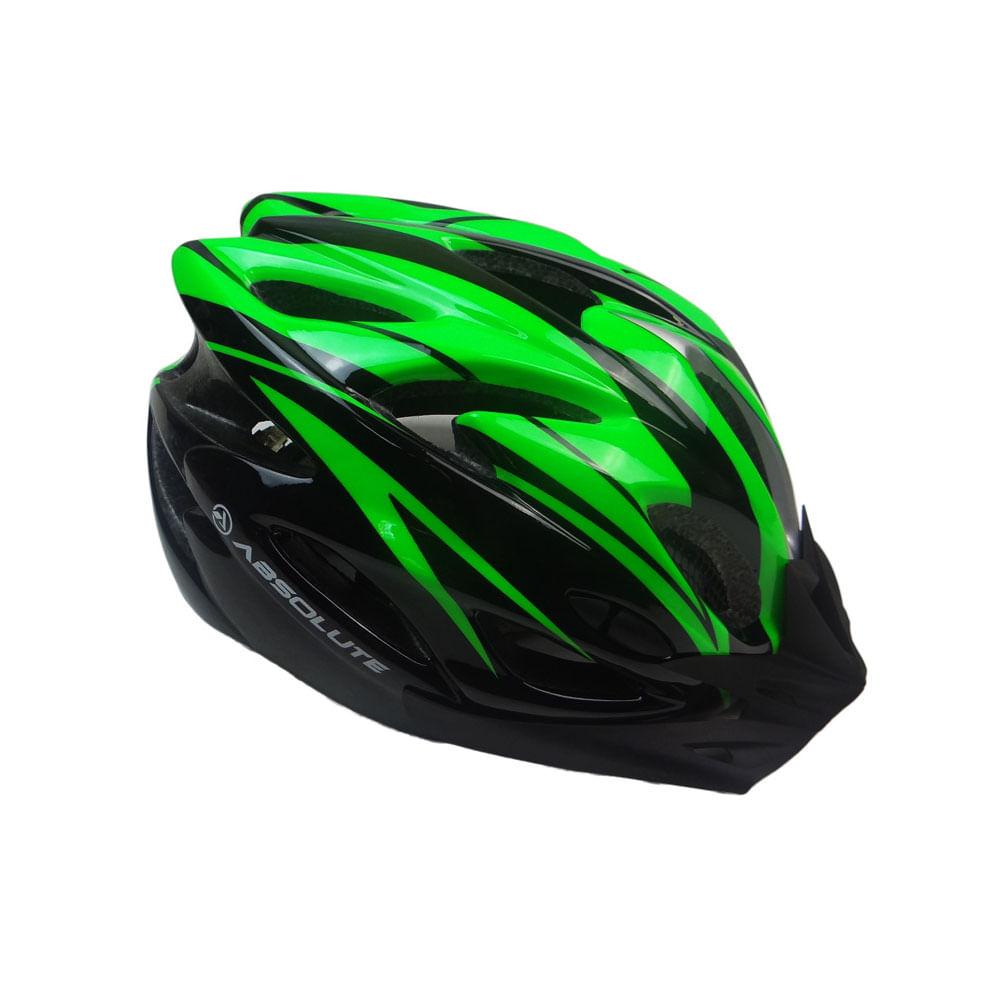 Capacete Ciclismo Absolute Nero WT012 Preto Verde- Ciclo Assunção ... df4d20eac7