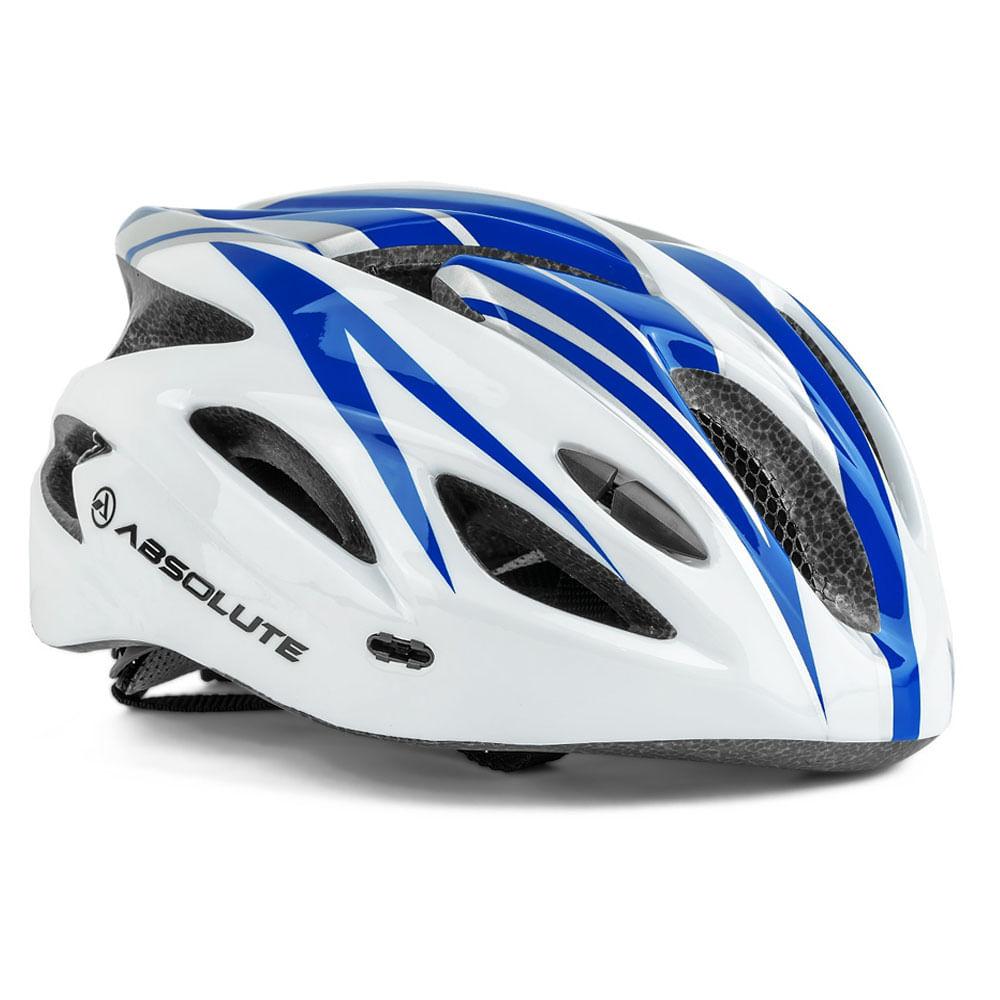 Capacete Ciclismo Absolute Nero WT012 Branco Azul- Ciclo ... 1b7f0399fb