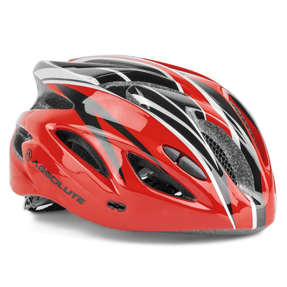 Capacete Ciclismo Absolute Nero WT012 Vermelho Preto- Ciclo ... 6a82c3d67a