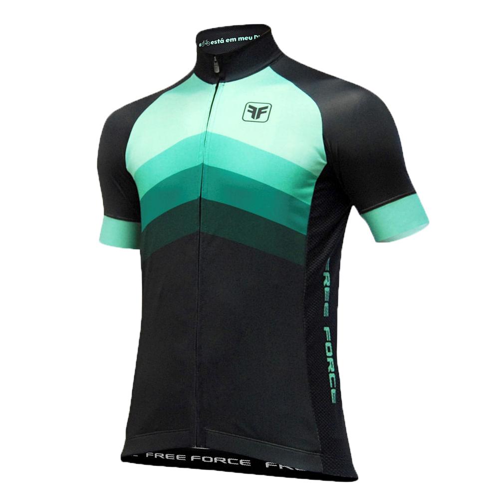 Camisa Ciclismo Free Force Bend Preto  Verde- Ciclo Assunção ... 727d760243