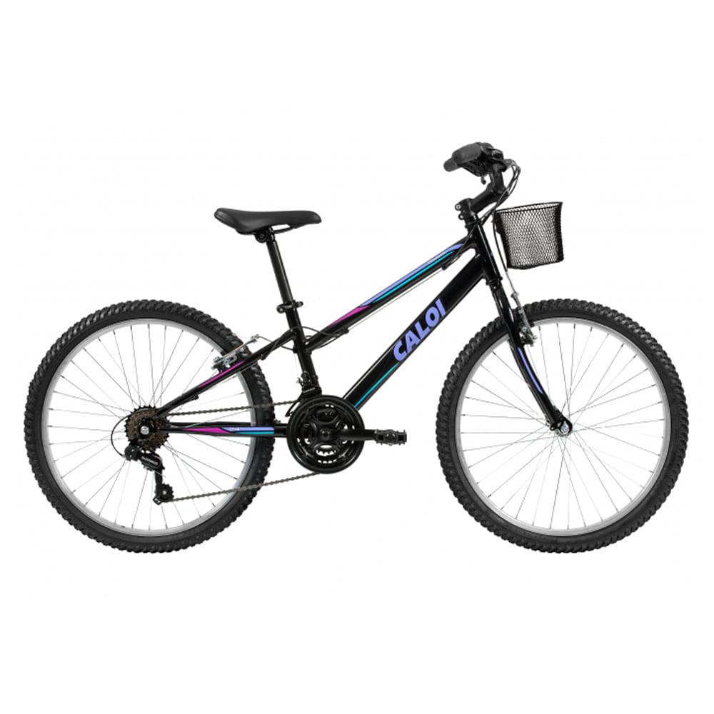 2977a72a2 Bicicleta infantil Caloi Sweet Aro 24 Feminina Preto 2018- Ciclo ...
