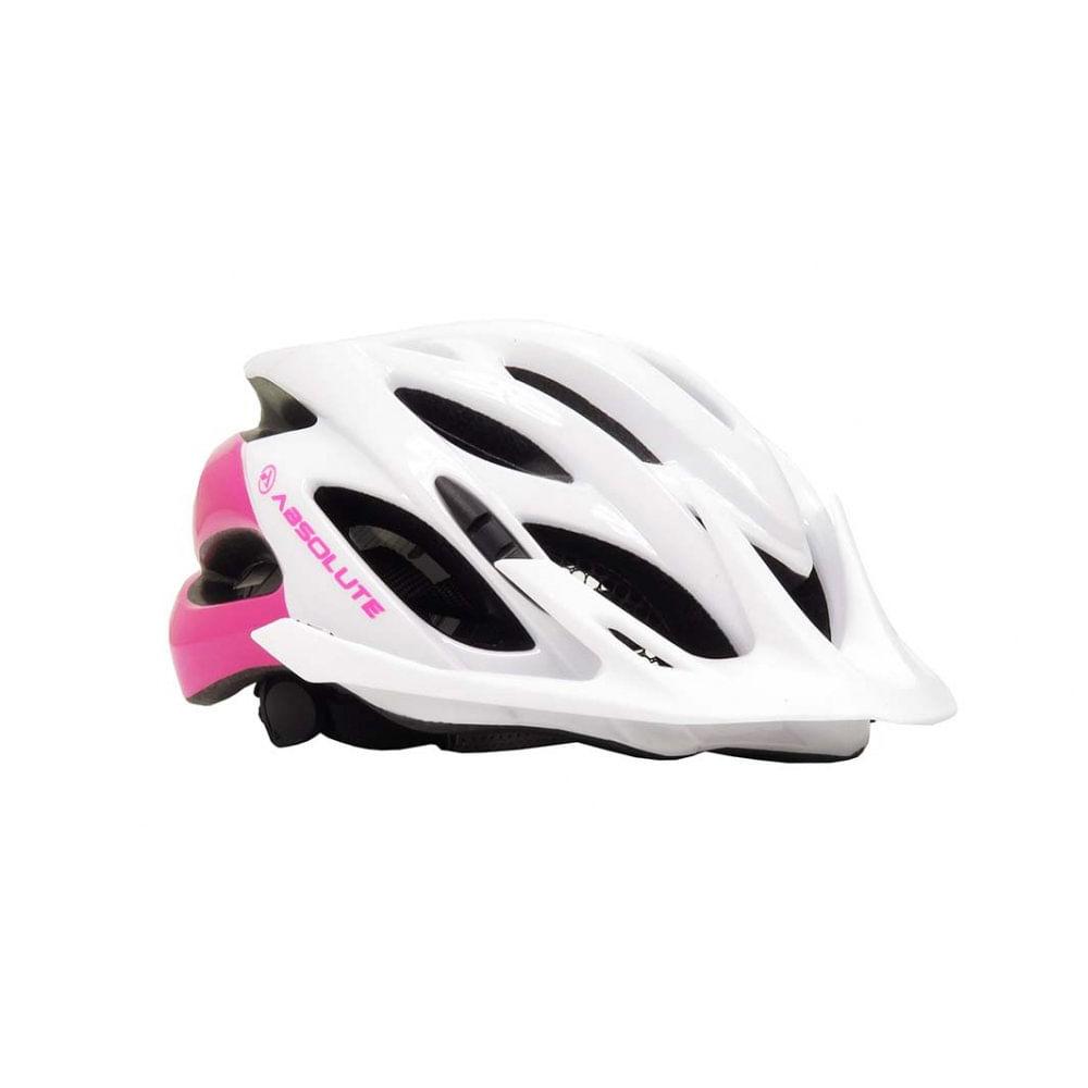 Capacete Ciclismo Absolute Mia Branco Rosa- Ciclo Assunção - Ciclo ... cbaa1cea9d