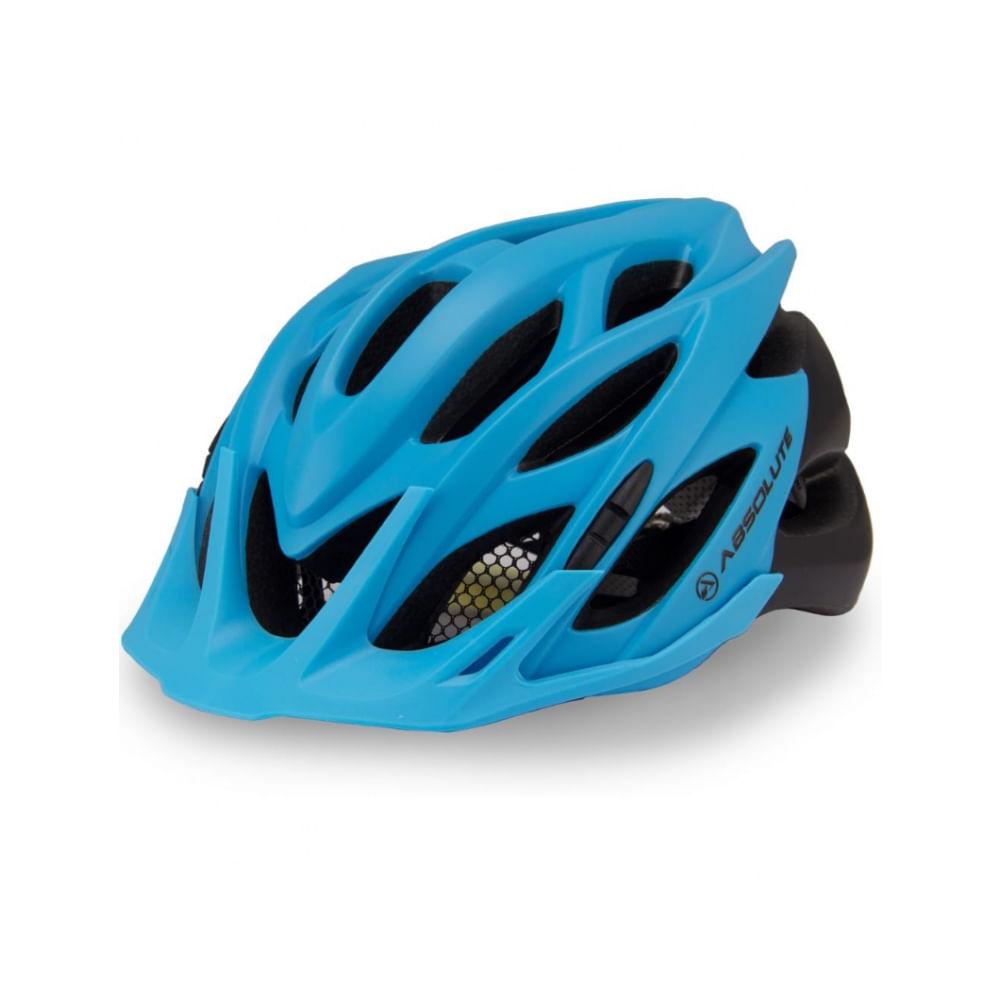 Capacete Ciclismo Absolute Wild Azul Preto Fosco- Ciclo Assunção ... af7a7250eb