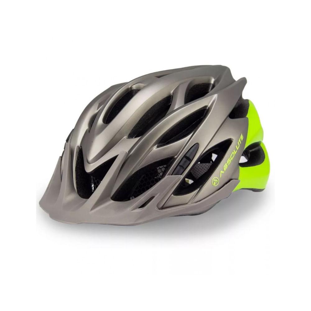 Capacete Ciclismo Absolute Wild Cinza Verde- Ciclo Assunção - Ciclo ... e5fc893530
