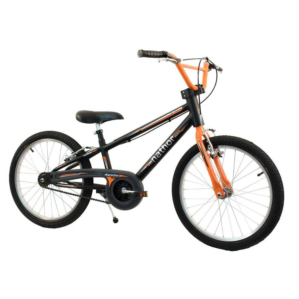 520b653a6 Bicicleta Nathor Aro 20 Apollo Preto Laranja - Ciclo Assuncao