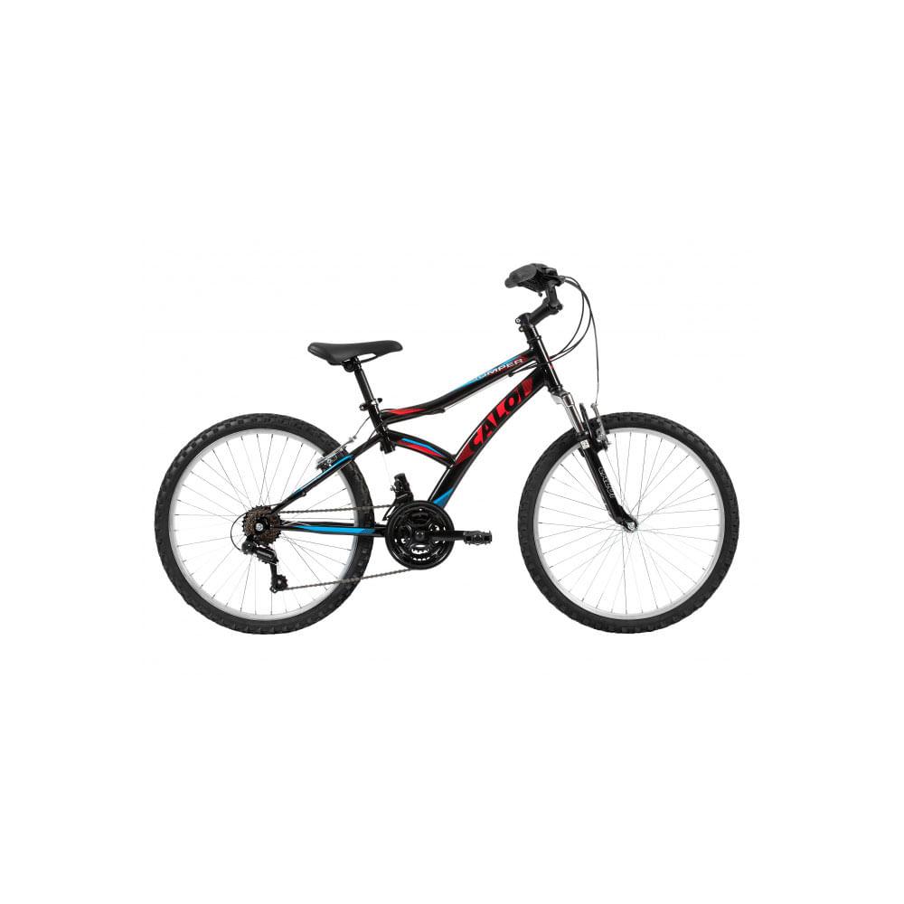 d4038e310 Bicicleta Caloi Jumper Aro 24 Preto Brilhante - Ciclo Assuncao